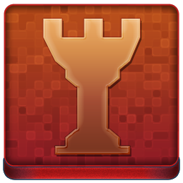 Red Chess Tower Coloured Icon 256x256 png