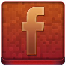Red Facebook Coloured Icon 256x256 png
