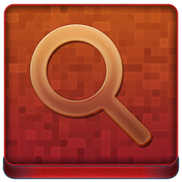 Red Search Coloured Icon 256x256 png