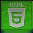 Green HTML5 Coloured Icon