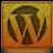 Orange WordPress Icon 48x48 png