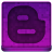 Pink Blogger Icon 48x48 png