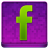 Pink Facebook Coloured Icon 48x48 png