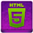 Pink HTML5 Coloured Icon