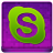 Pink Skype Coloured Icon 48x48 png