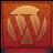 Red WordPress Coloured Icon