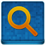 Blue Search Coloured Icon 64x64 png