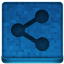 Blue Share Icon 64x64 png