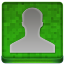 Green User Coloured Icon 64x64 png