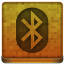 Orange Bluetooth Icon 64x64 png