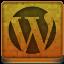Orange WordPress Icon 64x64 png
