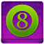 Pink 8Ball Coloured Icon 64x64 png