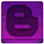 Pink Blogger Icon 64x64 png