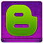 Pink Blogger Coloured Icon 64x64 png