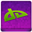 Pink deviantART Coloured Icon 64x64 png