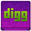Pink Digg Coloured Icon 64x64 png