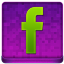 Pink Facebook Coloured Icon 64x64 png