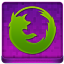 Pink Firefox Coloured Icon 64x64 png