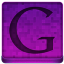 Pink Google Icon 64x64 png