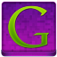 Pink Google Coloured Icon 64x64 png
