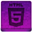 Pink HTML5 Icon 64x64 png