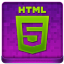 Pink HTML5 Coloured Icon 64x64 png
