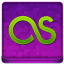 Pink Last.fm Coloured Icon 64x64 png