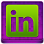 Pink Linked In Coloured Icon 64x64 png