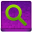 Pink Search Coloured Icon 64x64 png