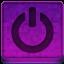 Pink Shutdown Icon 64x64 png