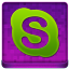 Pink Skype Coloured Icon 64x64 png