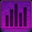 Pink Statistics Icon 64x64 png