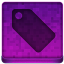 Pink Tag Icon 64x64 png