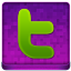 Pink Twitter Coloured Icon 64x64 png