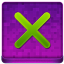Pink X Coloured Icon 64x64 png