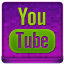 Pink YouTube Coloured Icon 64x64 png