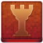 Red Chess Tower Coloured Icon 64x64 png