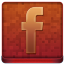 Red Facebook Coloured Icon 64x64 png