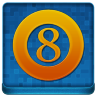 Blue 8Ball Coloured Icon 96x96 png