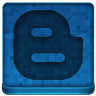 Blue Blogger Icon 96x96 png