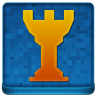 Blue Chess Tower Coloured Icon 96x96 png