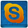 Blue Skype Coloured Icon 96x96 png