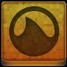 Orange Grooveshark Icon 96x96 png