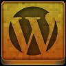Orange WordPress Icon 96x96 png