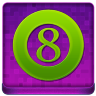 Pink 8Ball Coloured Icon 96x96 png