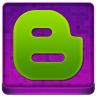 Pink Blogger Coloured Icon 96x96 png