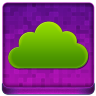 Pink Cloud Coloured Icon 96x96 png