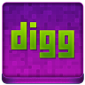 Pink Digg Coloured Icon 96x96 png