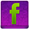 Pink Facebook Coloured Icon 96x96 png