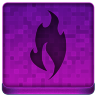 Pink Fire Icon 96x96 png